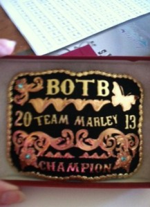 Thank you to The Shirey Family for being a BOTB Buckle Sponsor!